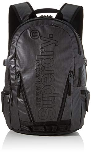 Superdry Tarp Backpack Men's Backpack, Black, 11x45x34 Centimeters (B x H x T)