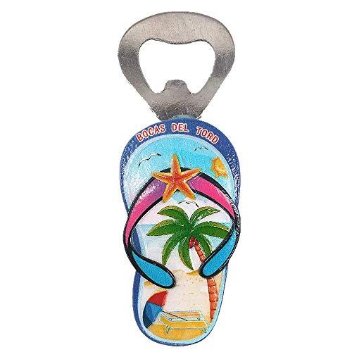Bocas del Toro Panamá 3D Nevera Imán Abridor de botellas Recogida de regalo de recuerdo, Decoración para el hogar y la cocina Etiqueta magnética Panamá Refrigerador Imán Abridor de cerveza