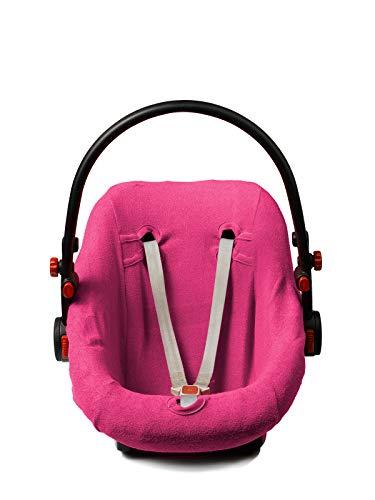 HATON BabyFit -- FROTTEE Ersatzbezug -- Frühling / Sommer / Herbst -- Universal Ersatz-Bezug für Babyschale, Autokindersitz z.B. für Maxi-Cosi, Römer etc. -- FUCHSIA --