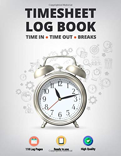 Timesheet Log Book: Large Size Employee Work Time and Breaks Tracking for Small & Medium Business   Modern Concept Design Vol.7 (Record & Monitor Work Hours, Band 7)