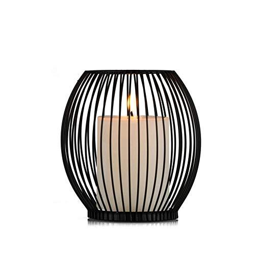 Sziqiqi Moderner einfacher Eisenkerzenstand, romantische Hochzeit kreative Kerzenständer, Romantisches Abendessen Haus Deko, 14cm×16cm