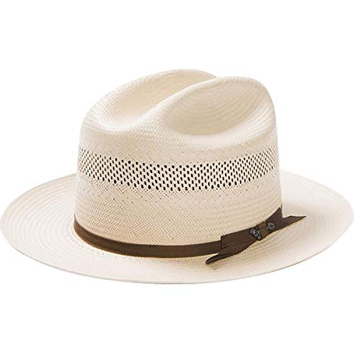 Stetson Men's Open Road 10X Vented Straw Cowboy Hat, Toast - 7 1/4