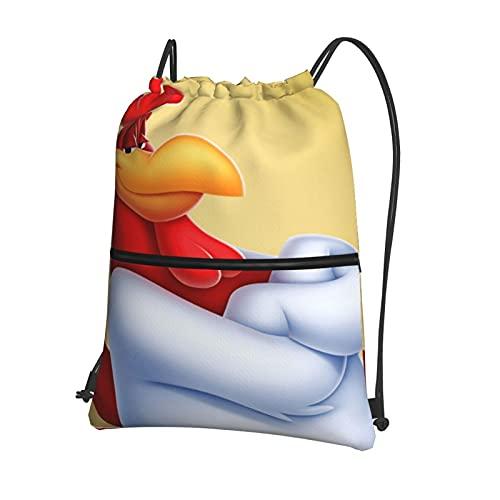 The Foghorn Leghorn Bolsas de deporte para la escuela, bolsas de polietileno,bolsa de gimnasio, mochila diaria, bolsas de viaje, bolsas de natación para niños,niñas y estudiantes con cremallera