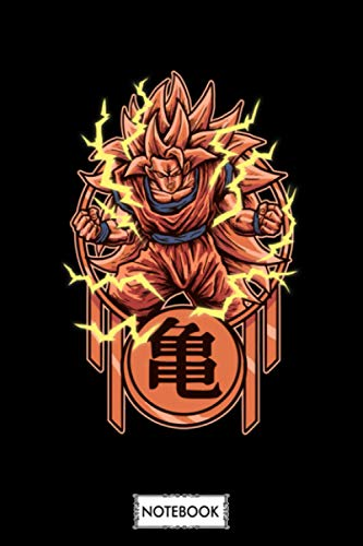 Super Saiyan Rage Notebook: Matte Finish Cover, Diary, 6x9 120 Pages, Planner, Lined College Ruled Paper, Journal