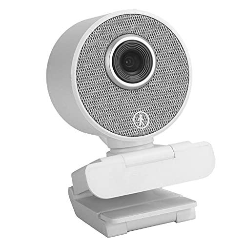 Goshyda Cámara Web de Seguimiento automático con IA, cámara Web de Alta definición Completa 1080P con micrófono Integrado Doble, para reuniones en línea, enseñanza Web, etc.