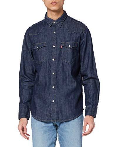 Levi s Barstow Western Standard Camicia, Blue (Red Cast Rinse Marbled T2 H2 19 0000), Medium Uomo