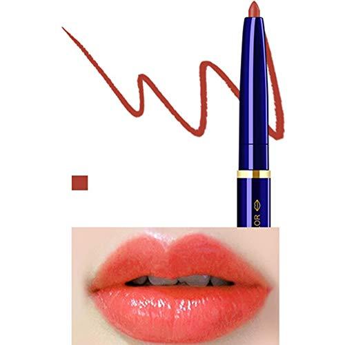 Yiwa Double Tête Cosmétique Professionnel Lipliner Imperméable Dame Charme Lèvres Lèvres Doux Crayon Contour Rouge À Lèvres 01#