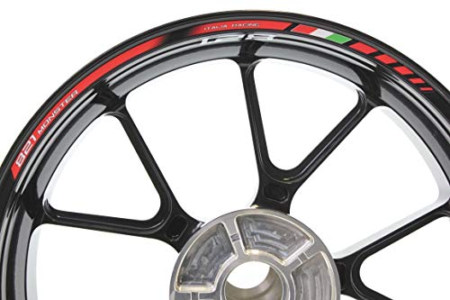 IMPRESSIATA Bandas Adhesivas SpecialGP Moto Ducati Monster 821 Rojo