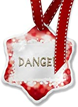 Enidgunter Christmas Decoration Ornament Danger Gun Bullet Shells, Red 3 inch