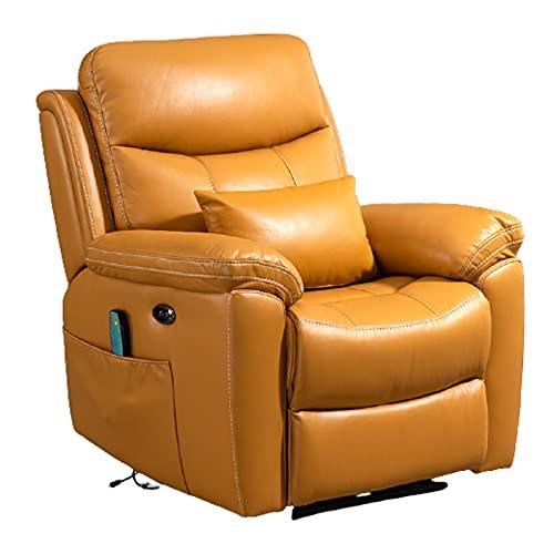 DAPAO Silla de masaje eléctrica, sillón de lujo, silla perezosa, masaje de calefacción por vibración, adecuado para sala de estar, estudio, dormitorio, multicolor opcional, 88x74x104cm