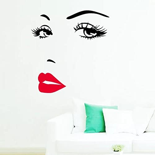 Amazon Com Decorstyle Large Marilyn Monroe Vinyl Decal Sticker Wall Decor Living Room Beauty Salon Wall Decals Car Truck Decal Sticker Sexy Cute Fun Monroe And Red Lip Home Kitchen