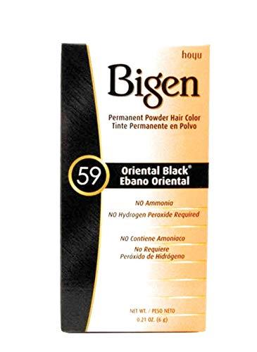 Bigen Permanent Powder Hair Color 59 Oriental Black 1 ea (Pack of 3)
