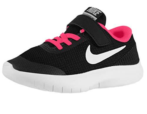 Nike Kids Flex Experience RN 7 (PS) Black White Racer Pink Size 13.5