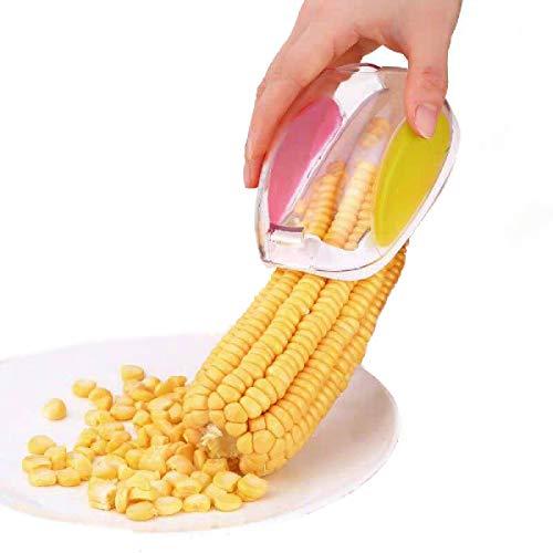 Pelador de maíz, pelador de maíz, cortador de maíz, cortador de maíz, removedor rápido de mazorcas de maíz, herramienta de cocina perfecta, seguro, conveniente y duradero