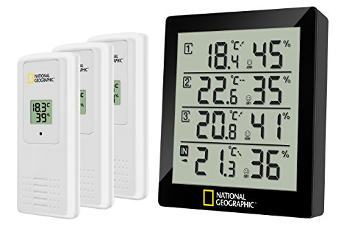 National Geographic 4-fach Thermo-/Hygrometer NATGEO