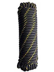 - DESIGNED FOR DURABILITY: Unlike other ropes filled with non-woven fabric that quickly rots when exposed to water and the sun, ours is made using actual polyester braided cords covered with polypropylene. Get a heavy duty nylon rope designed to be r...