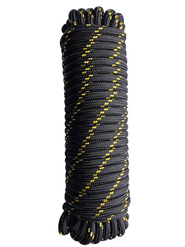 """Typhon East Polypropylene Braided Nylon Rope (3/8"""" Thick x 100ft Long) 