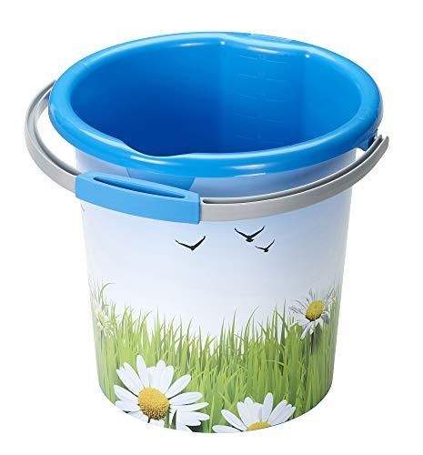 Sunware Decor Flowers Waterline Eimer, blau, 12 Liter