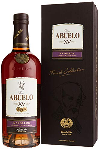 Abuelo Anejo XV Napoleon Cognac Cask Finish 15 Anos Rum mit Geschenkverpackung (1 x 0.7 l)