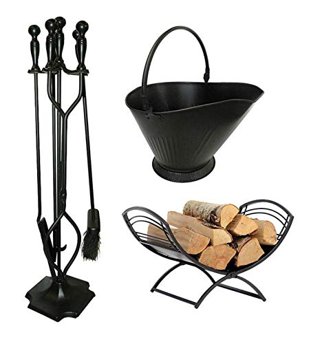 Shelter Logic Fireplace Tools and Log Holder | Hearth Care...