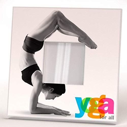 Yoga for All Pose Woman Fan Lovers Wall Framed Mirror Printed Design Studio Art Home Room Decor Gift