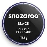 Snazaroo- Pintura Facial y Corporal, Color negro, 18 ml (Paquete de 1) (Colart 18111)