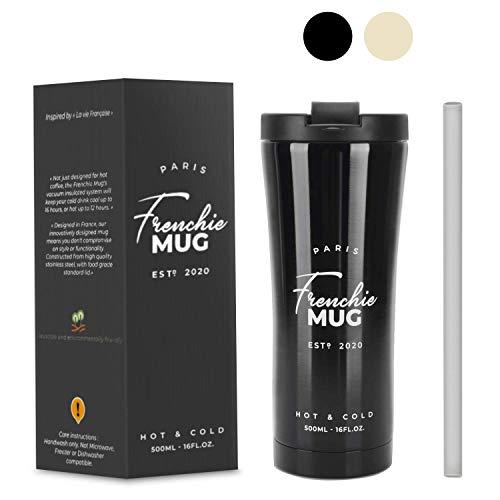 Frenchie MUG 500ml MUG Isotherme pour Café & Thé...