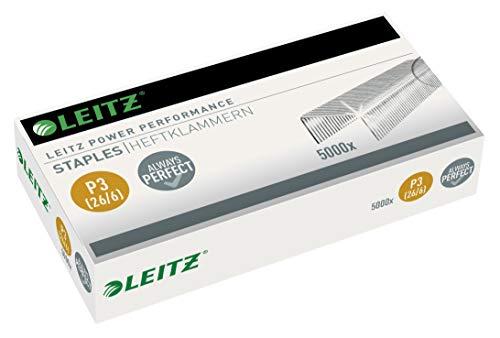 Leitz Power Performance Heftklammern P3 (26/6), 5000 Stück, Verzinkt, 55721000