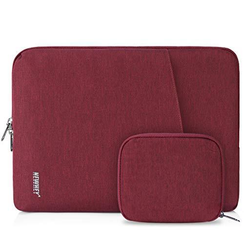 NEWHEY Funda Portatil 13-14 Pulgadas Funda para Macbook Air 13 Pulgadas Impermeable Funda Ordenador Blandas Antigolpes con Pequeño Caso Rojo