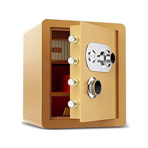 HIZLJJ Segura y bloqueo Box - Caja de Seguridad, cajas fuertes y cajas de bloqueo, caja de dinero, cajas de seguridad for el hogar, caja de seguridad digital, acero de aleación gota segura, incluye te