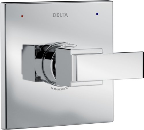 Delta Faucet Ara 14 Series Single-Function Shower Handle Valve Trim Kit, Chrome T14067 (Valve Not Included)