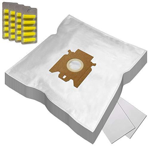 Set 20 Bolsas de aspiradora + 20 Ambientadores + 2 Filtros para Miele Allergy HEPA 400, S 298 / S298, Haus & Co, S 724, Complete C1, S 4711 / S4711, Power 1400, Solution
