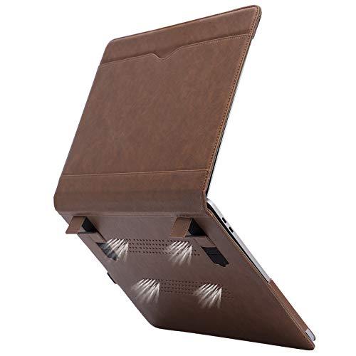 TYTX - Funda de piel para MacBook Pro de 15 pulgadas (A1990 A1707), color marrón oscuro (con rejillas de ventilación)