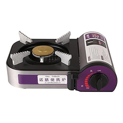 SIRUL Cocina portátil de Gas, Mini Parrilla de Cassette de aleación de Aluminio de 1800 W, con Encendido piezoeléctrico, Estufa de Gas para Acampar para Todas Las Aplicaciones de Cocina