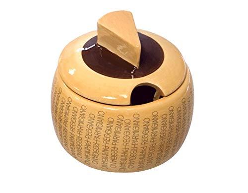 Formaggiera mini in ceramica Dimensioni: cm. 9,7xH8,7 Confezione Regalo Marchio Ufficiale Parmigiano Reggiano