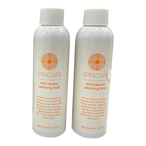 2 x 150ml Record Cleaning Solution for SPINCARE Record Cleaning Mach