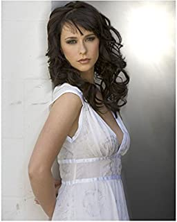 Jennifer Love Hewitt 8 x 10 Photo Ghost Whisperer Criminal Minds I Know What you Did Last Summer White Dress Hands Behind Back Pose 2 kn