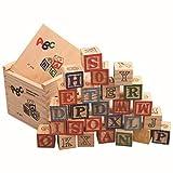 TOYANDONA 1 juego de letras y números, bloques de construcción de madera,...