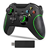 Wireless Controller for Xbox One,2.4GHZ Gamepad Controller Compatible with Xbox One/One S/One X/One Series X/S/Elite/PC Windows 7/8/10,with Built-in Dual Vibration (Black)