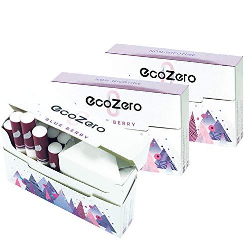 EcoZero エコゼロ 1箱20本入り 茶葉スティック ニコチンゼロ 加熱式タバコ 加熱式たばこ ニコチン0 たばこ風 電子タバコ 電子たばこ 禁煙グッズ 禁煙 離煙 減煙 (ブルーベリー, 3箱セット)