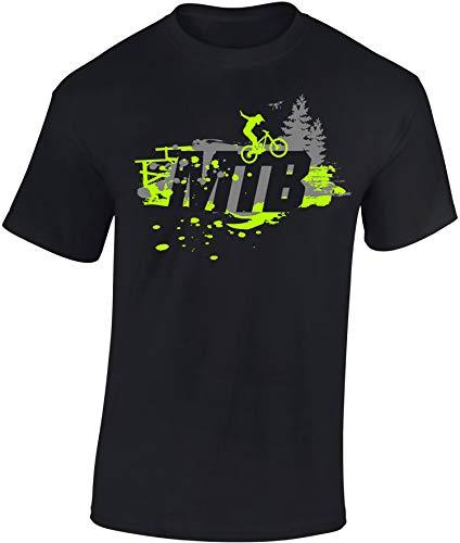 Kinder Fahrrad T-Shirt: MTB - Geschenk-e Jungen & Mädchen - Radfahrer-in Mountain Bike Downhill Mountainbike BMX Roller Rad Outdoor Junge Kind - Schule Sport Trikot Geburtstag (152/164)