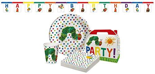 Raupe Nimmersatt 31teilig 31-teiliges Partypaket, Pappe/Papier, Bunt, 30,3 x 22,5 x 8,3 cm