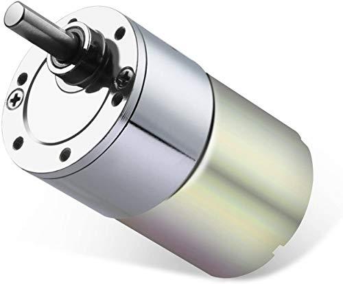 ICQUANZX Motorreductor de CC 12V 200R Motor de engranaje de alto torque eléctrico Reducción de velocidad Motorreductor de salida céntrica Diámetro del eje Caja de engranajes