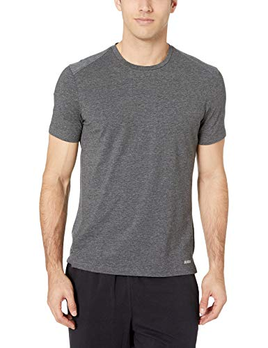 Amazon Essentials Men's Performance Cotton Short-Sleeve T-Shirt, Charcoal Grey Heather
