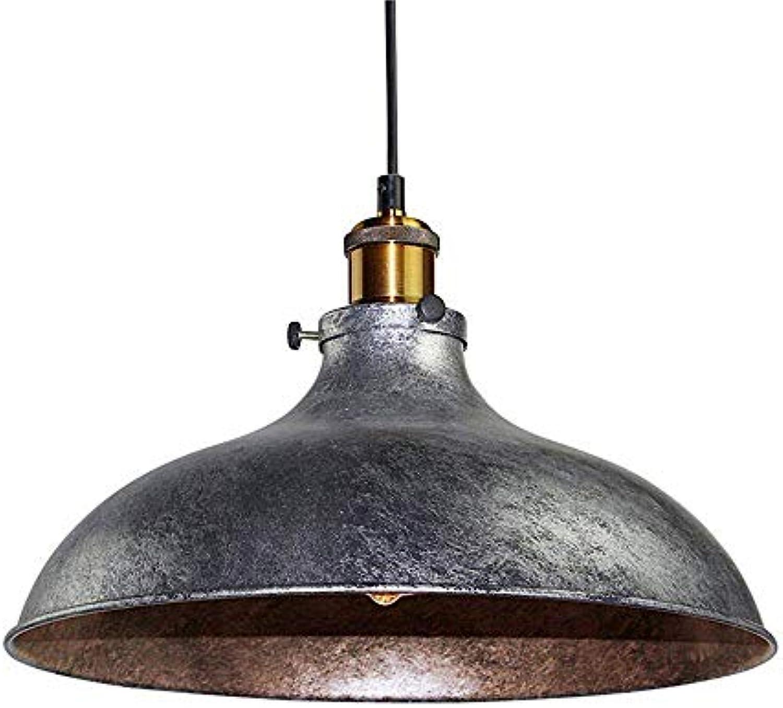 GAOLI Pendellicht, Retro Industrial Metal Simple Round Interior Deckenleuchte 1E27,Diameter 36 cm