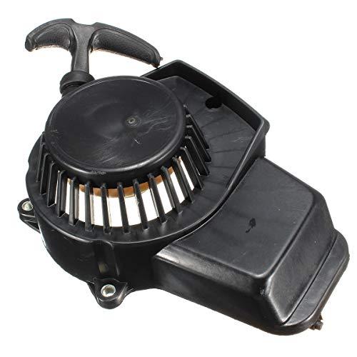 XIXI-Home 47cc 49cc Pit Bici de la Suciedad de la Motocicleta Mini Moto Mini Quad Negro Comienzo del tirón de la Cuerda de Arranque Comienzo del tirón Cog