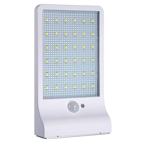 TOOGOO 2 piezas de la lampara solar 36 LED inalambrico a prueba de agua con detector de movimiento y lampara de exterior para jardin, puerta, entrada, etc.