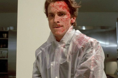 Nostalgia Store Póster de Christian Bale American Psycho Spattered (60 x 91 cm)