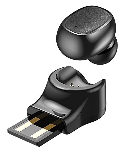 Audífonos inalámbricos Bluetooth, auriculares invisibles más pequeños, auriculares táctiles inteligentes con micrófono para teléfono celular coche, auriculares magnéticos inalámbricos para camionero, Samsung, LG, Sony Sleep