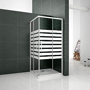 Mamparas Cabina de ducha con Puerta corredera de 8 ruedas vidrio templado 5MM 90x90x195cm